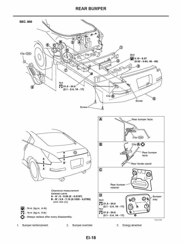 2003 Nissan Xterra Front Bumper Diagram